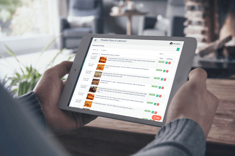 Restauarant marketing platform view