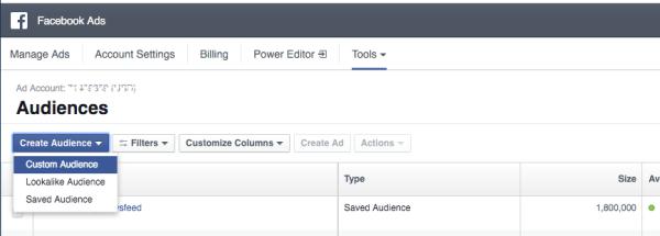 restaurant email marketing strategies facebook custom audience