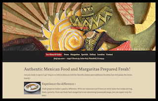 Delicia Mexican website