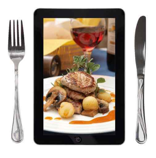 restaurant guest tablet