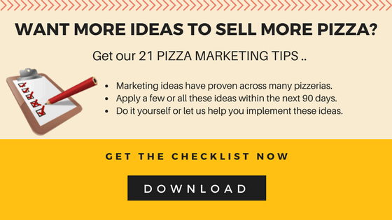 Ideas to sell more pizza