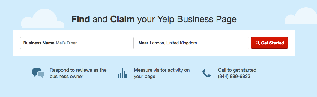Claim business on Yelp