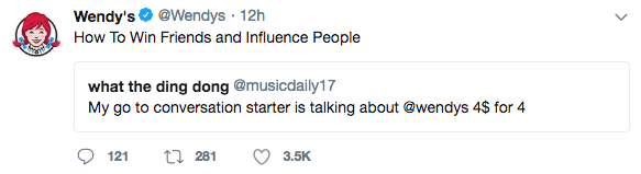 Wendy's social media post