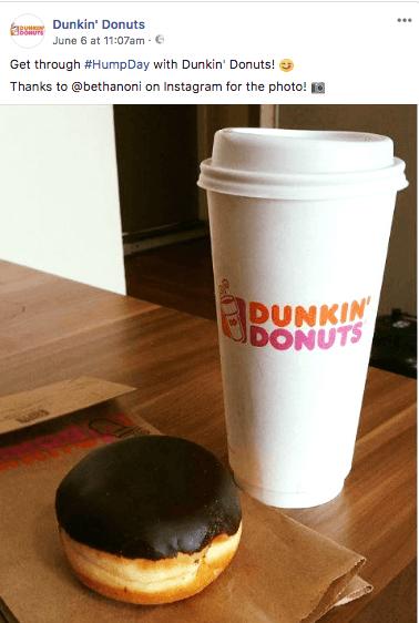 Dunkin donuts social
