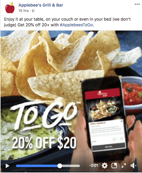 Applebees Social media