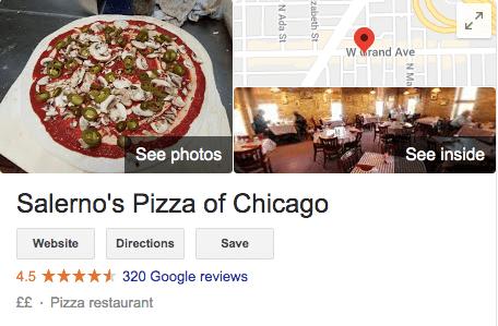 Google Restaurant Review