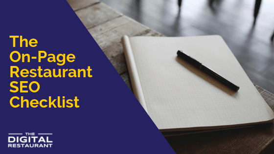 The On-Page Restaurant SEO Checklist
