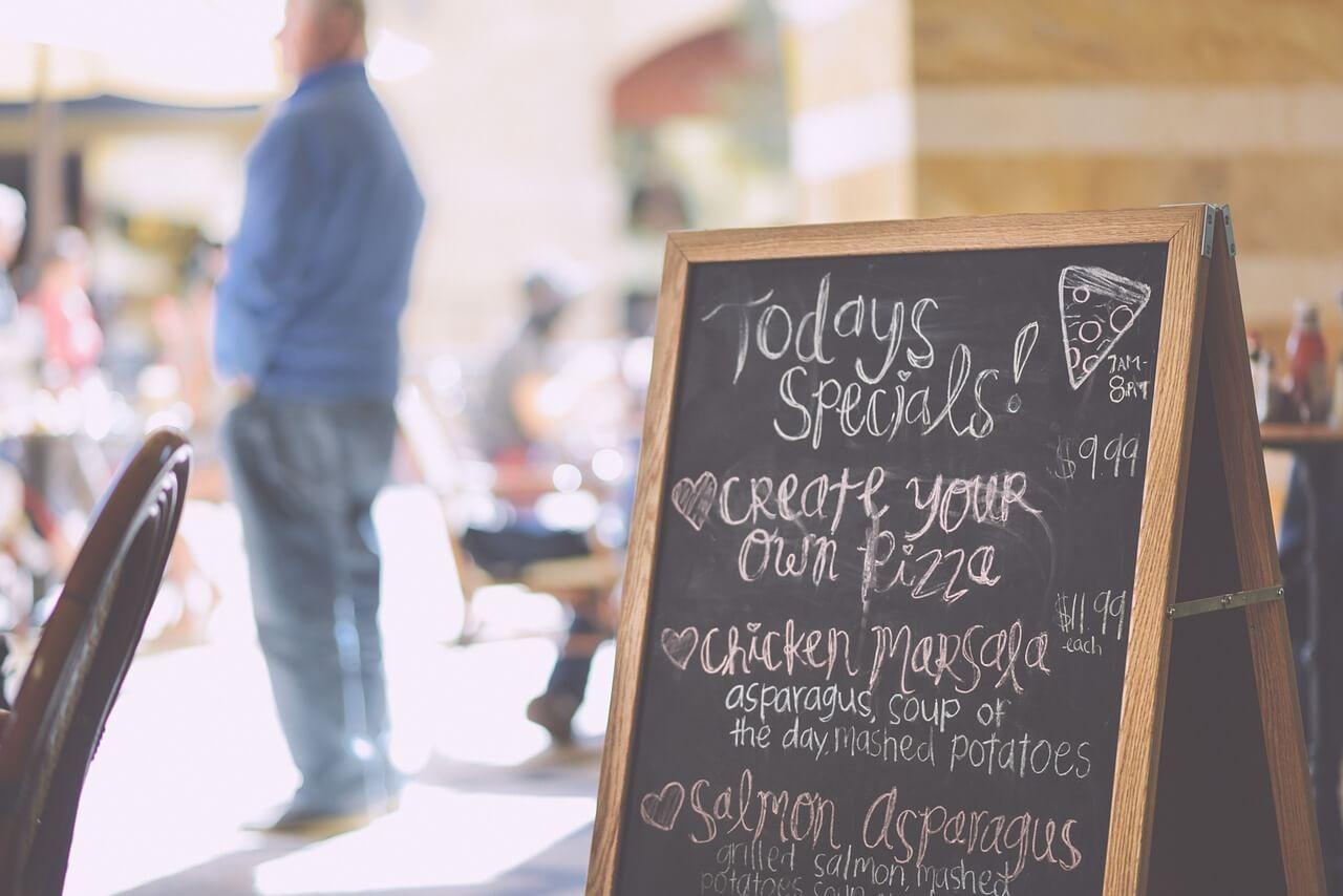 Restauant menu