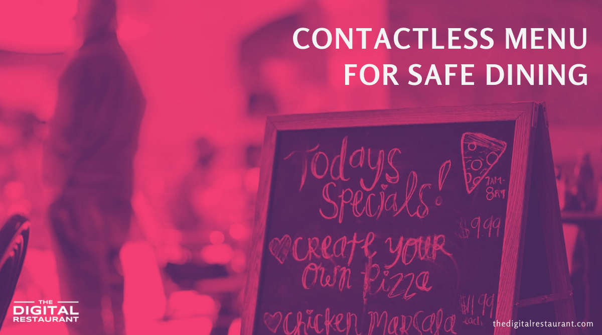 contactless menu for safe dining